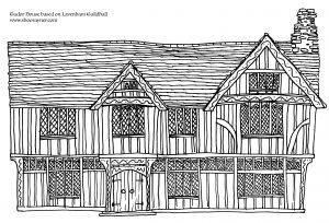 Draw a Tudor House Lavenham Guldhall